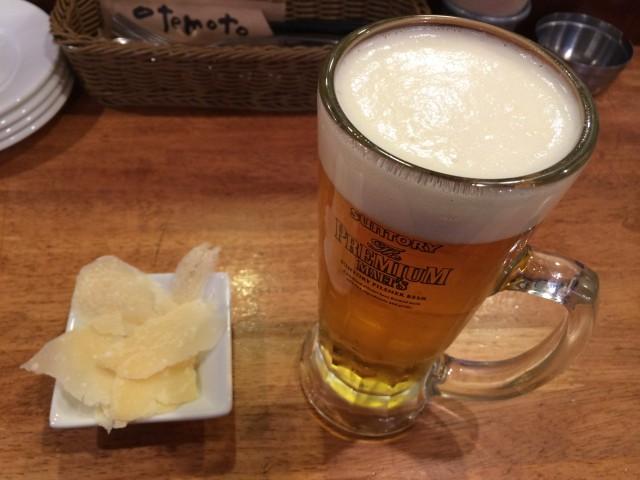 NATURAのビールとお通し