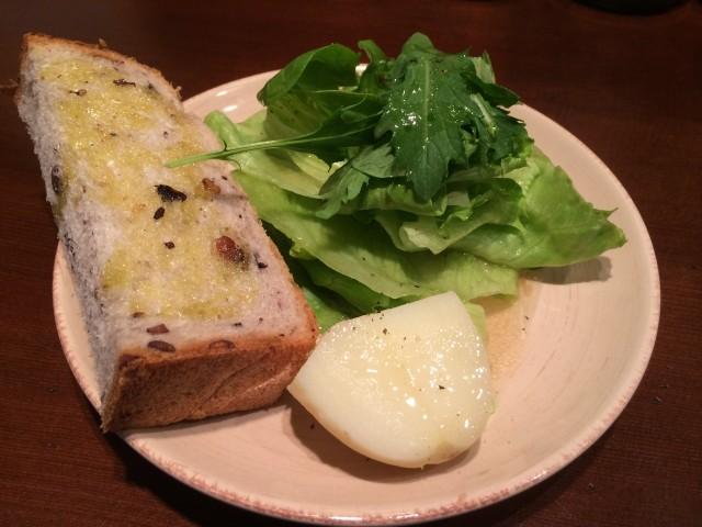 BJcafeランチのサラダ