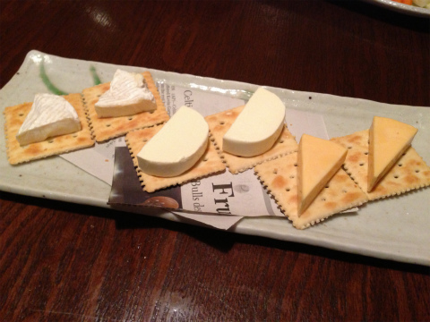 ちゃぶや_三種チーズの盛り合わせ